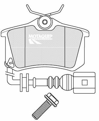 MOTAQUIP LVXL1704 Колодки задн.W G3/4/Vento/Passat/Peugeot/Citroen+дат