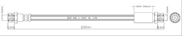MOTAQUIP VBH1189 Шланг тормоз.зад.W G5/6/A3/Pass/Octavia